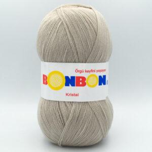 Пряжа Nako Bonbon Kristal  98330 серо-бежевый
