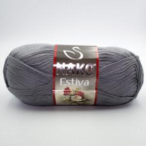 Пряжа Nako Estiva 10880 серый