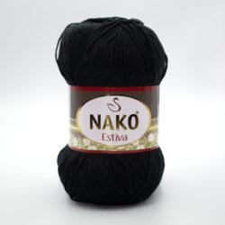 Пряжа Nako Estiva 217 черный