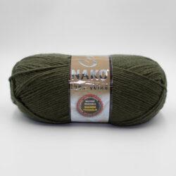 Пряжа Nako Pure Wool 10728 хаки