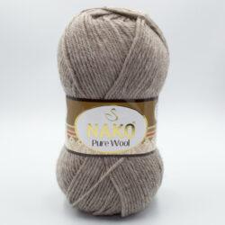 Пряжа Nako Pure Wool 23131 бежевый меланж