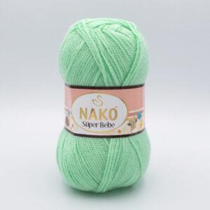 Пряжа Nako Super Bebe 11627 мята