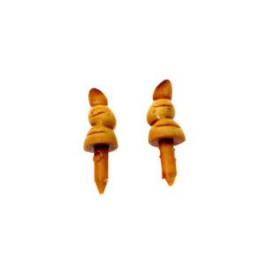 Нос-морковка для снеговика 24х8 мм желтый