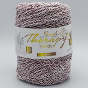 Трикотажный шнур для вязания с люрексом Therapy Yarn Pasakli бордо
