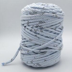 Трикотажный шнур для вязания с люрексом Therapy Yarn Pasakli голубой меланж