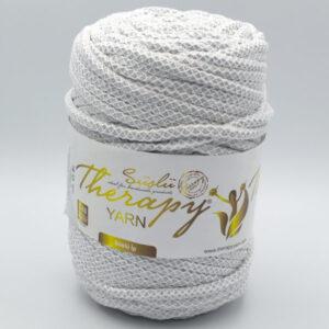 Трикотажный шнур для вязания с люрексом Therapy Yarn Pasakli светло-серый