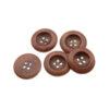 Пуговица деревянная круглая красно-коричневая 25 мм 11378