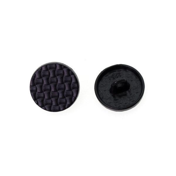 Пуговица металлическая круглая 15 мм клетка черная