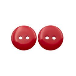 Пуговица пластиковая круглая 18 мм красная