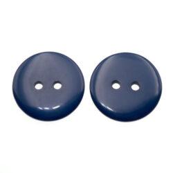 Пуговица пластиковая 23 мм темно-синяя с двумя отверстиями