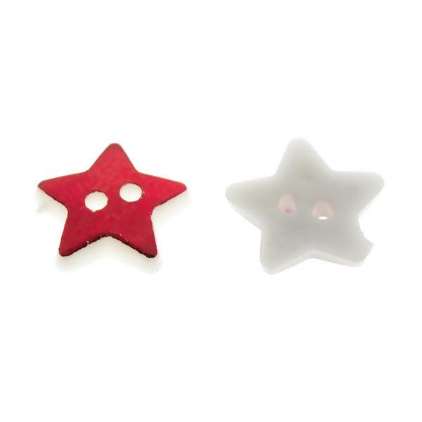 Пуговица пластиковая 12 мм Звезда красная