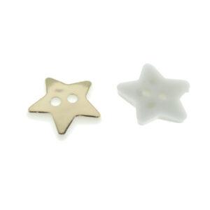 Пуговица пластиковая 12 мм Звезда золото