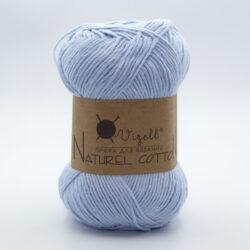Пряжа Vizell Naturel Cotton светло-голубой