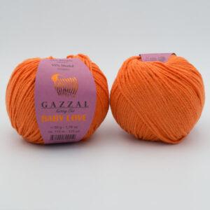 Пряжа Gazzal Baby Love 1602 оранжевый