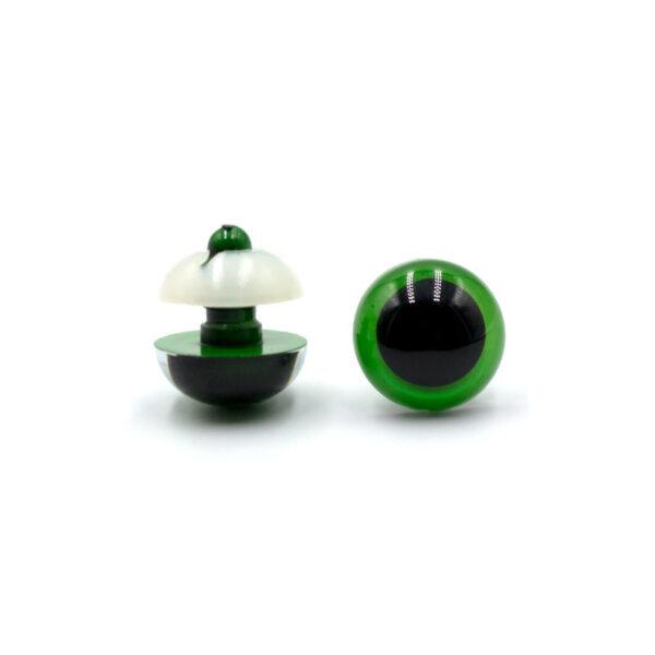 Глазки круглые зеленые с белой заглушкой