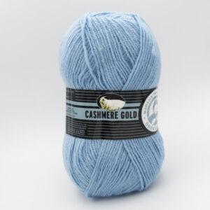 Пряжа Madame Tricote Cashmere Gold 012 голубой