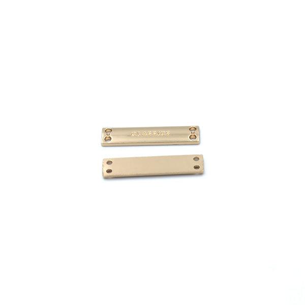 Нашивка металлическая 30×7 mm CLASSICS золото