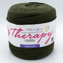 Трикотажная пряжа Therapy Yarn темный хаки