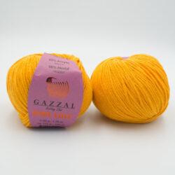 Пряжа Gazzal Baby Love 1605 желто-оранжевый