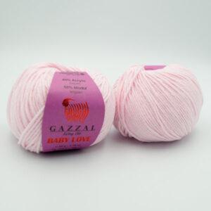 Пряжа Gazzal Baby Love 1606 нежно-розовый