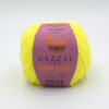 Пряжа Gazzal Baby Love 1607 лимонный желтый 12703