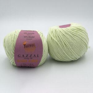 Пряжа Gazzal Baby Love 1609 светло-салатовый