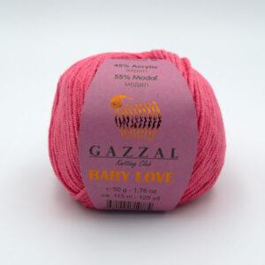 Пряжа Gazzal Baby Love 1612 коралловый