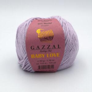 Пряжа Gazzal Baby Love 1616 светлая сирень