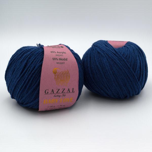 Пряжа Gazzal Baby Love 1619 темно-синий