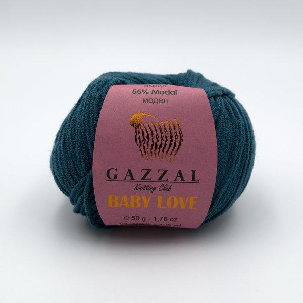 Пряжа Gazzal Baby Love 1620 темно-зеленый