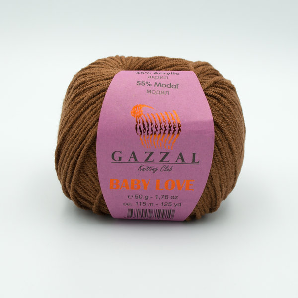 Пряжа Gazzal Baby Love 1626 коричневый