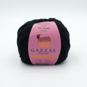 Пряжа Gazzal Baby Love 1629 черный