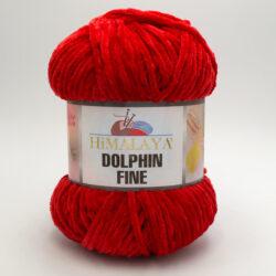 Пряжа плюшевая Himalaya Dolphin Fine 80509 красный