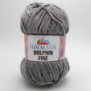 Пряжа плюшевая Himalaya Dolphin Fine 80510 серый