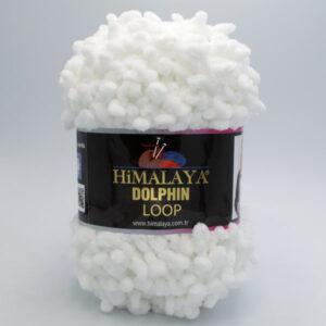 Пряжа плюшевая Himalaya Dolphin Loop 112-01 белый