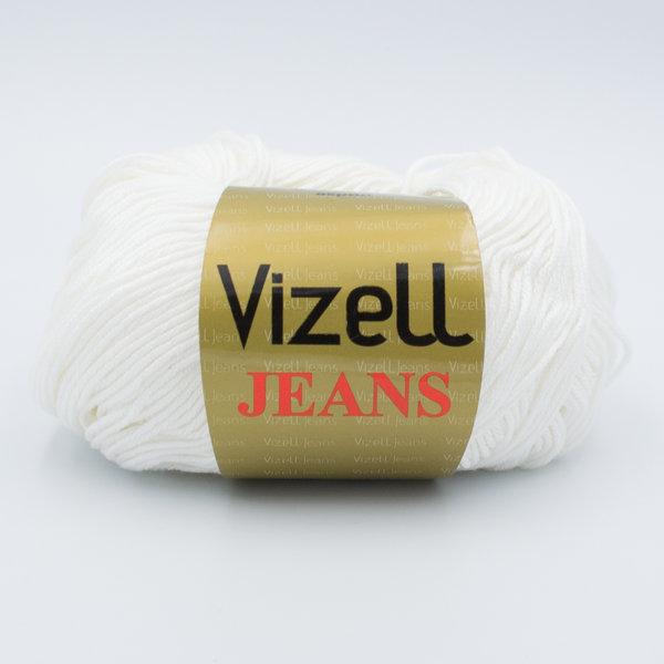 Пряжа Vizell Jeans 025 молочный