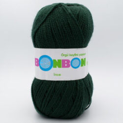 Пряжа Nako Bonbon Ince 98321 темно-зеленый