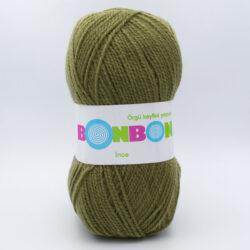 Пряжа Nako Bonbon Ince 98326 светлый хаки