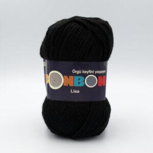 Пряжа Nako Bonbon Lisa 98206 черный