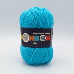 Пряжа Nako Bonbon Lisa 98238 голубая бирюза