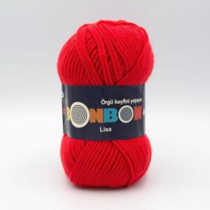 Пряжа Nako Bonbon Lisa 98619 красный