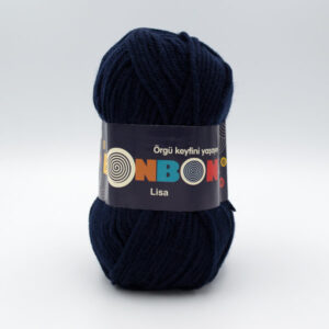 Пряжа Nako Bonbon Lisa 98666 темно-синий