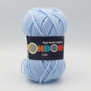Пряжа Nako Bonbon Lisa 98669 голубой