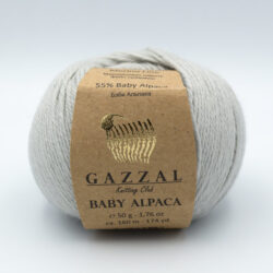 Пряжа Gazzal Baby Alpaca серый 46016