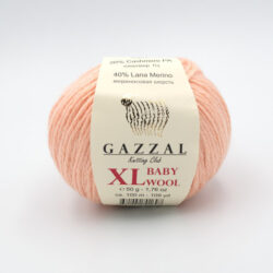 Пряжа Gazzal Baby Wool 834 XL персик