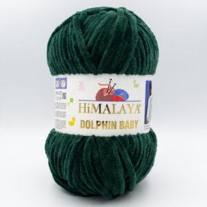 Пряжа плюшевая Himalaya Dolphin Baby 80362 зеленый бутылочный