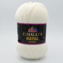 Пряжа Himalaya Hayal Lux Wool 227-01 молочно-белый