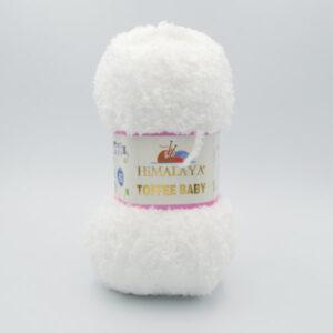 Пряжа плюшевая Himalaya Toffee Baby 78101 белый