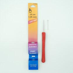 Крючок для вязания с эргономичной ручкой 1.25 мм 14 см Pony 39904