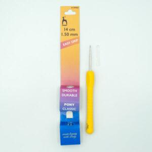 Крючок для вязания с эргономичной ручкой 1.5 мм 14 см Pony 39905